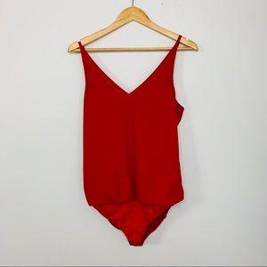 2/$15 Express Red Cami Bodysuit